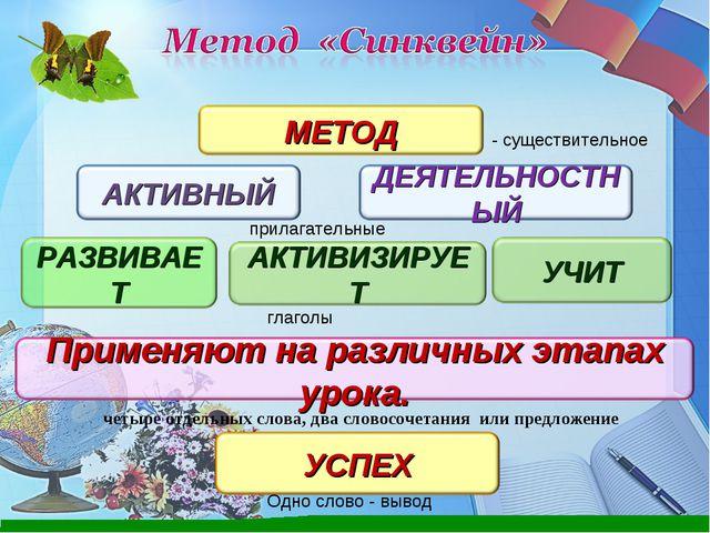 - существительное прилагательные глаголы четыре отдельных слова, два словосоч...