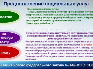 * Предоставление социальных услуг Несовершеннолетним детям; Лицам, пострадавш