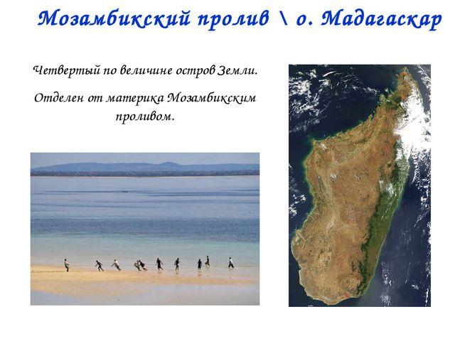 Мозамбикский пролив \ о. Мадагаскар Четвертый по величине остров Земли. Отдел...
