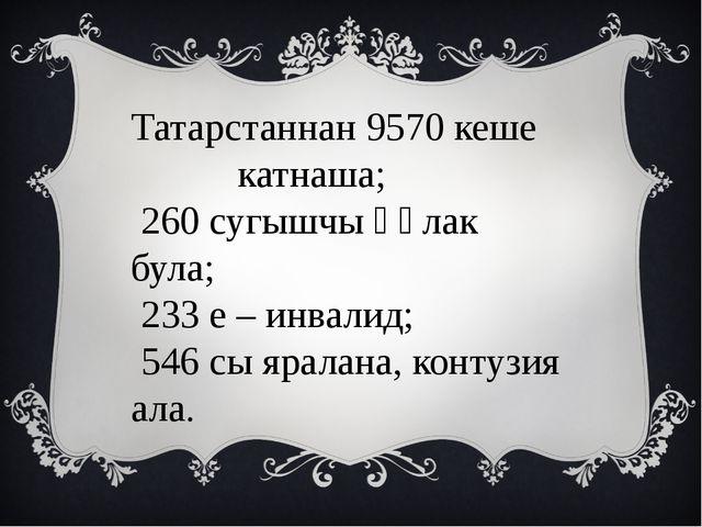Татарстаннан 9570 кеше катнаша; 260 сугышчы һәлак була; 233 е – инвалид; 546...