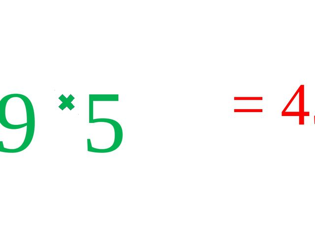 9 5 = 45