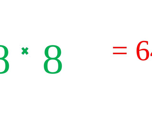 8 8 = 64