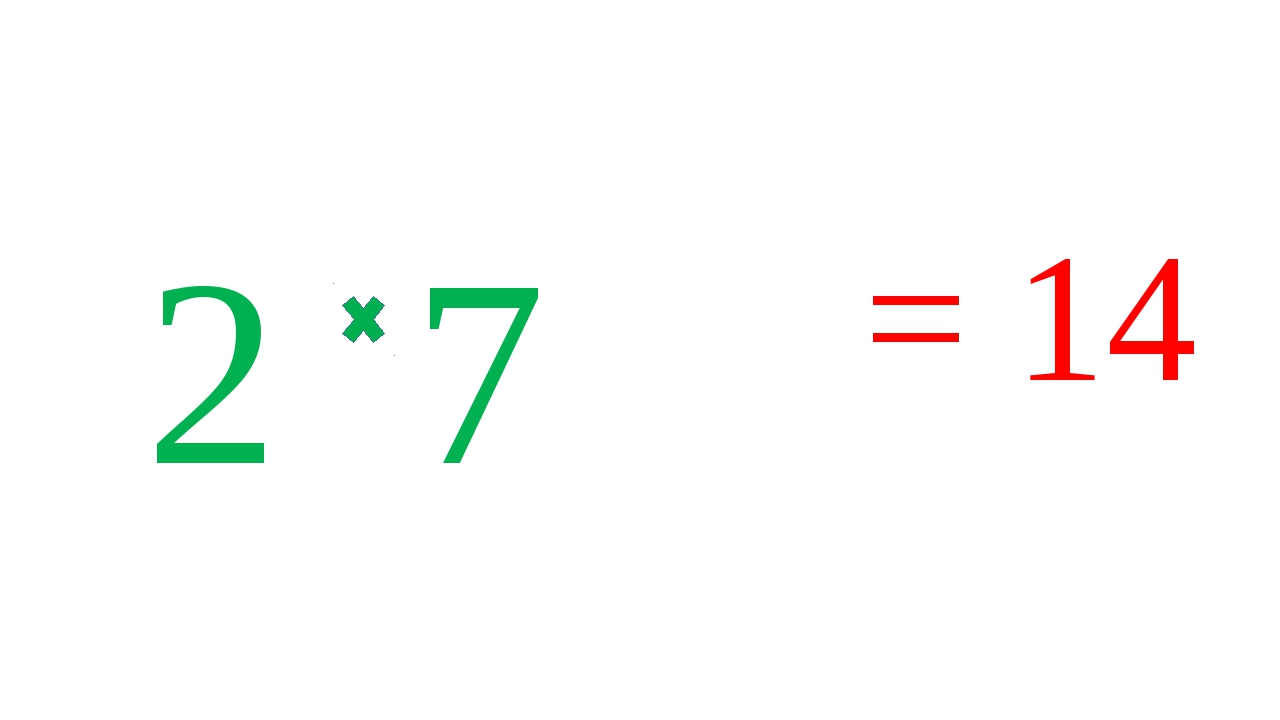 2 7 = 14