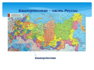 Башкортостан – часть России Башкортостан