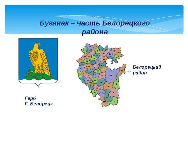 Буганак – часть Белорецкого района Белорецкий район Герб Г. Белорецк