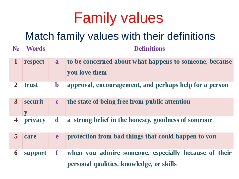 essay about family and values