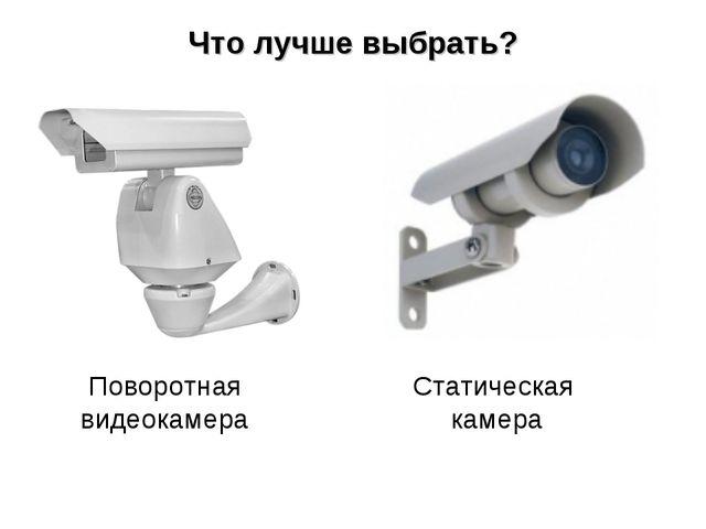 Что лучше выбрать? Поворотная видеокамера Статическая камера