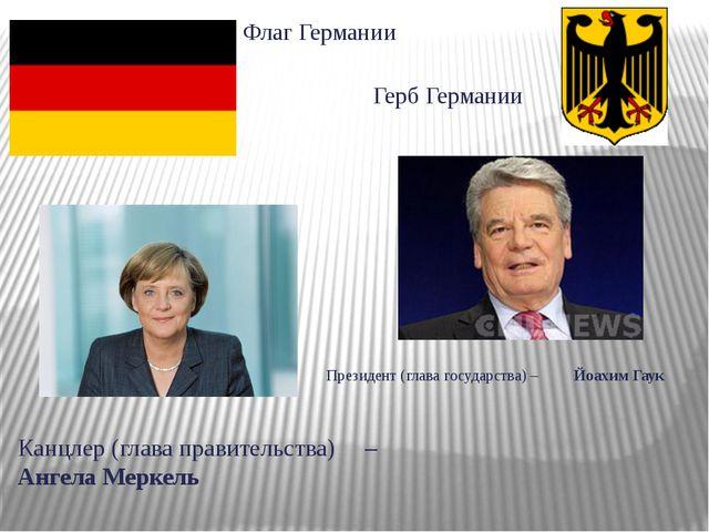 Президент (глава государства) – Йоахим Гаук Канцлер (глава правительства) – А...