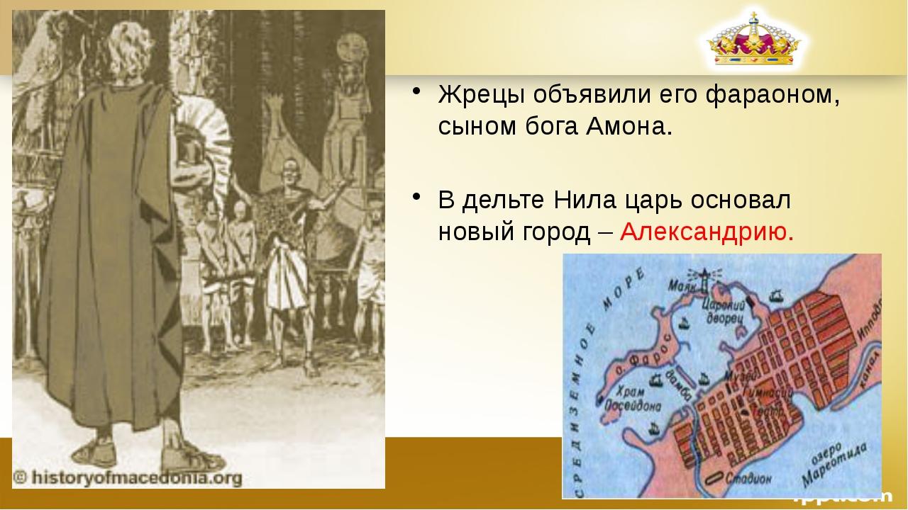 Жрецы объявили его фараоном, сыном бога Амона. В дельте Нила царь основал нов...