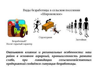 Виды безработицы в сельском поселении «Широковское» Структурная Безработный?