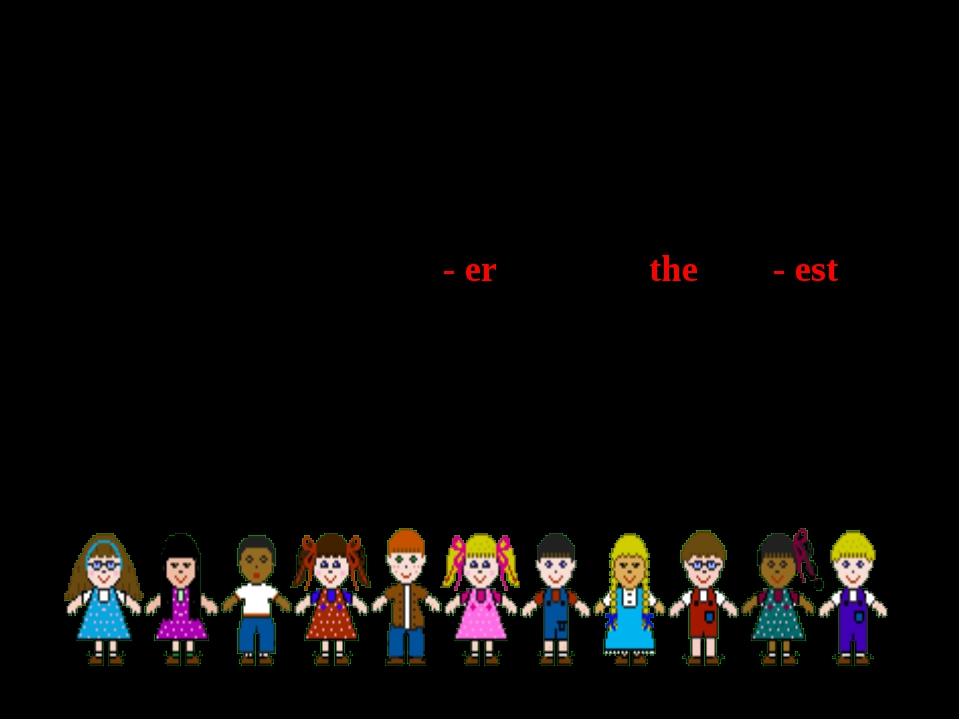 Степени сравнения прилагательных - er the - est Положительная степеньСравнит...