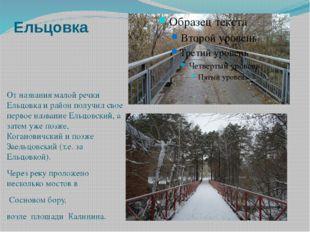 Ельцовка От названия малой речки Ельцовка и район получил свое первое названи