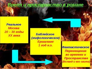 Время и пространство в романе Реальное Москва 20 – 30 годы ХХ века Библейское