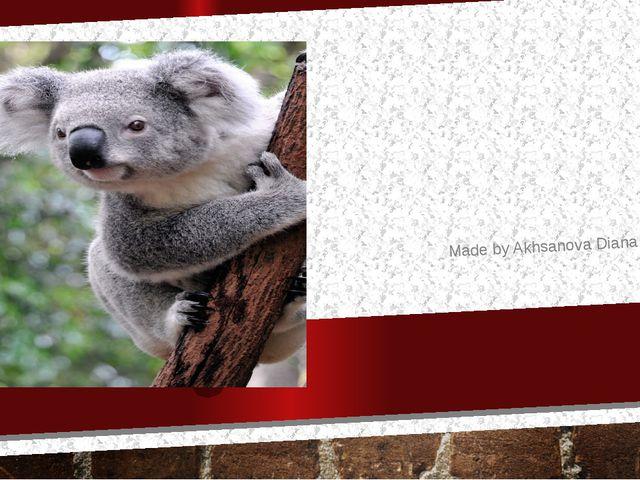 Australia Made by Akhsanova Diana
