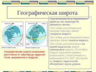 Географическая широта это величина дуги меридиана в градусах от экватора до з