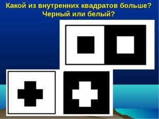 Какой из внутренних квадратов больше? Черный или белый?