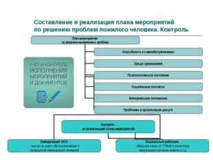 Составление и реализация плана мероприятий по решению проблем пожилого челове