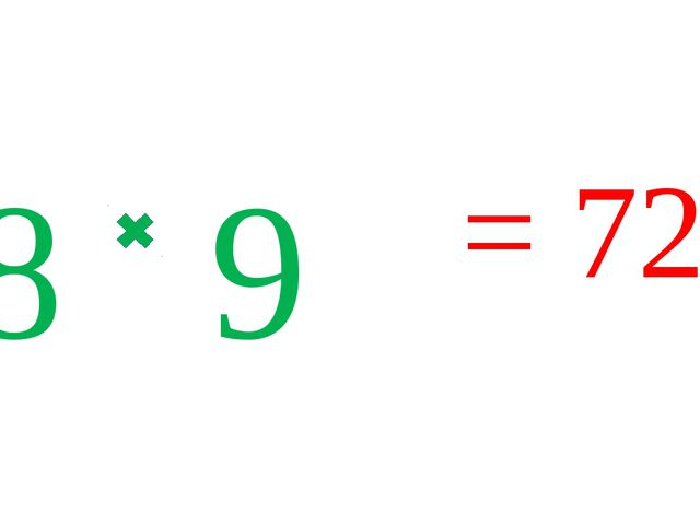 8 9 = 72