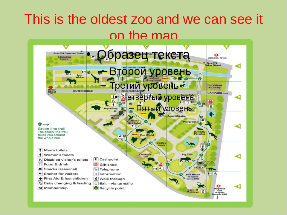 This is the oldest zoo and we can see it on the map