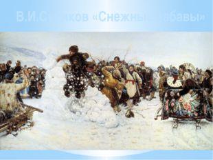 Поместите здесь ваш текст В.И.Суриков «Снежные забавы»