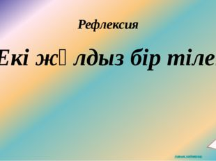 Рефлексия Екі жұлдыз бір тілек
