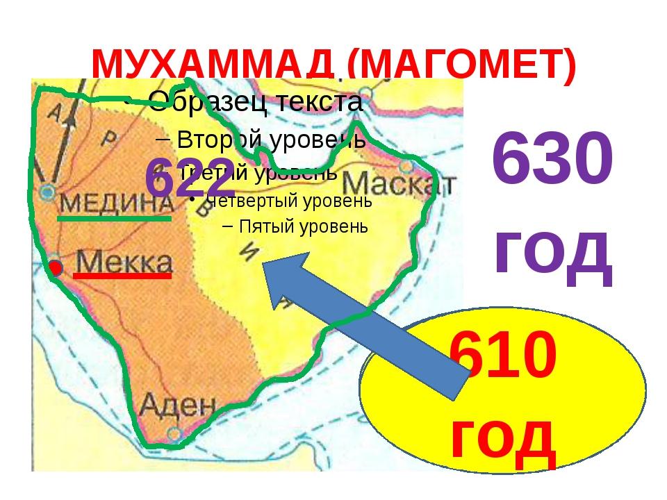МУХАММАД (МАГОМЕТ) 570 год 610 год 622 630 год