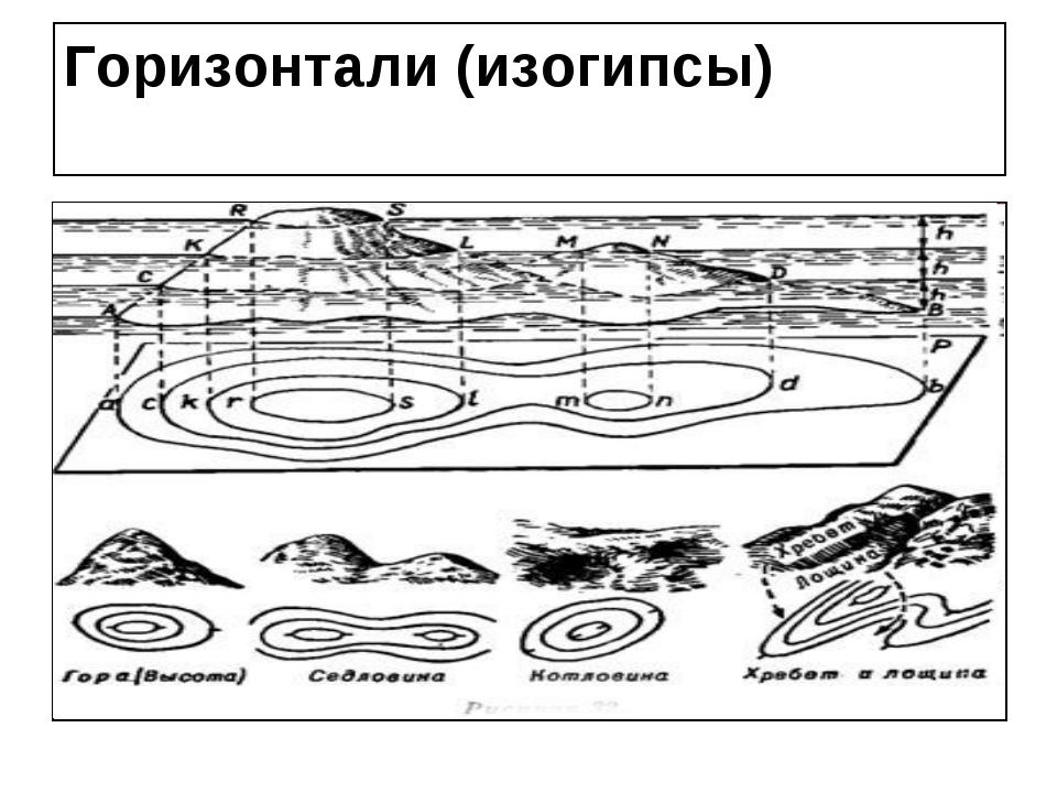 Горизонтали (изогипсы)