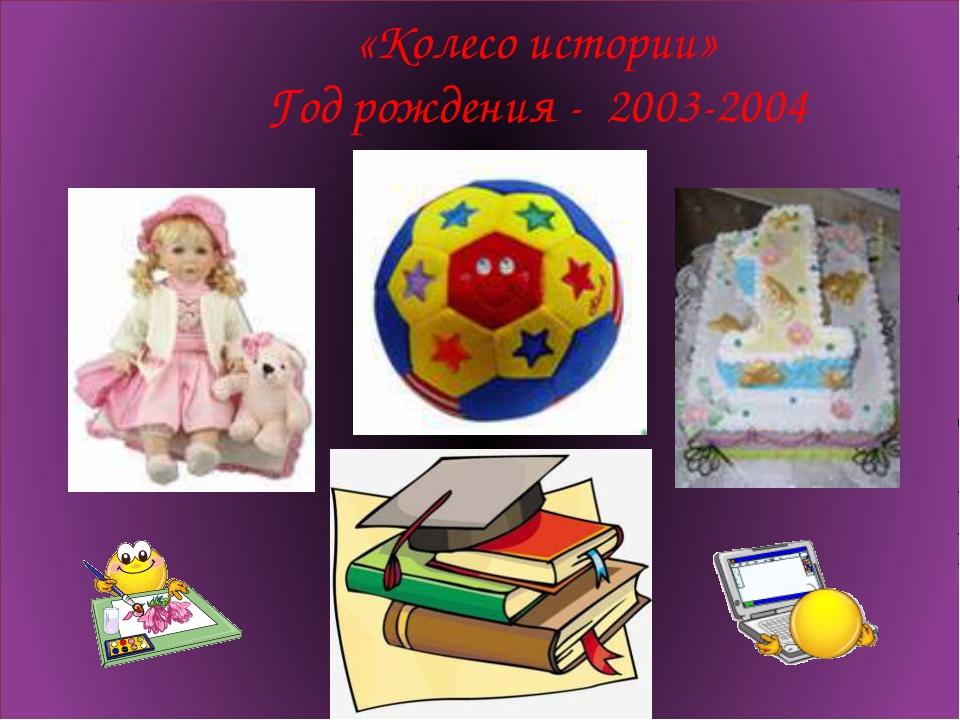 «Колесо истории» Год рождения - 2003-2004