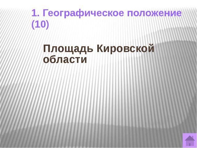 1. Географическое положение (30) В каком часовом поясе находится Кировская об...