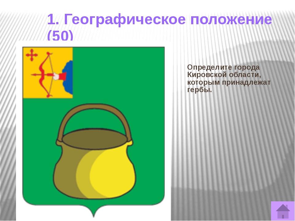 3. Рельеф (30) Назовите возвышенности Кировской области Ответ: Верхнекамская,...