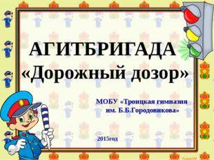 АГИТБРИГАДА «Дорожный дозор» МОБУ «Троицкая гимназия им. Б.Б.Городовикова» 20