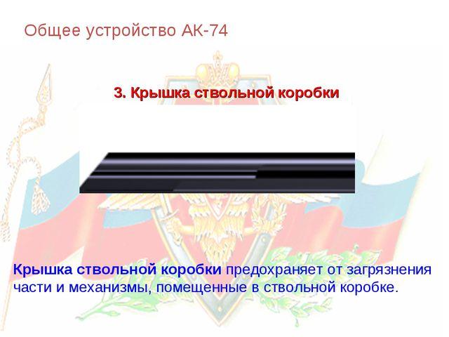 Общее устройство АК-74 3. Крышка ствольной коробки Крышка ствольной коробки п...