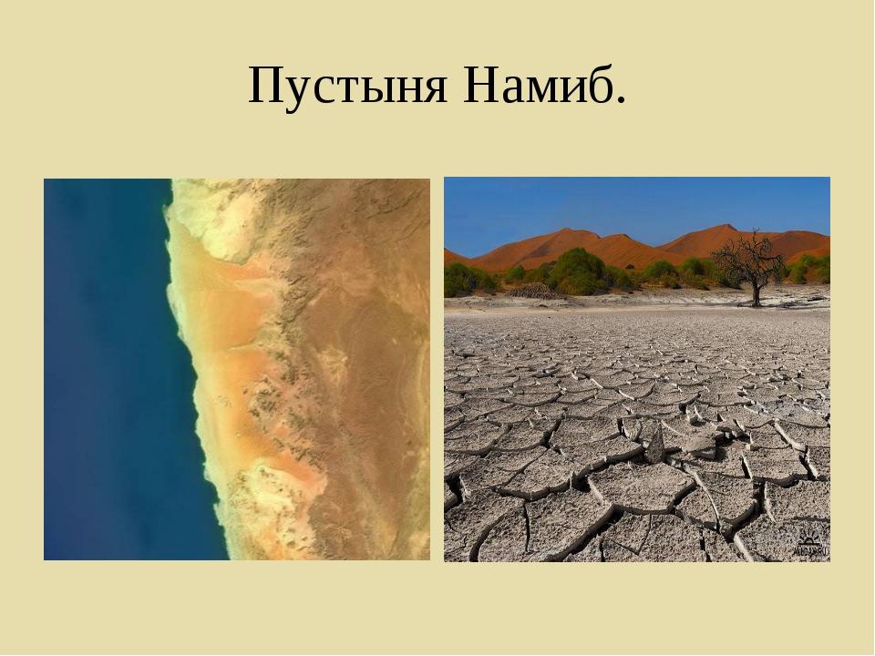 Пустыня Намиб.