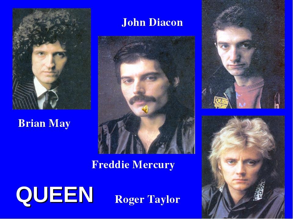 QUEEN Freddie Mercury Brian May Roger Taylor John Diacon
