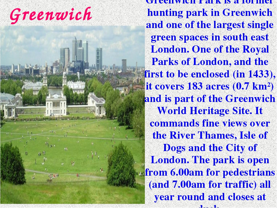 Greenwich Park is a former hunting park in Greenwich and one of the largest s...