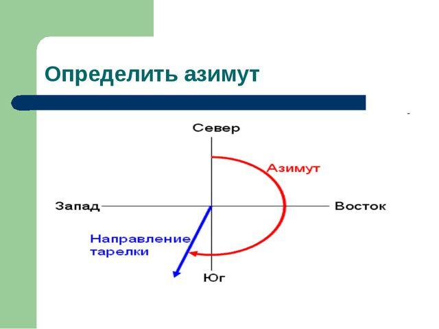 Определить азимут