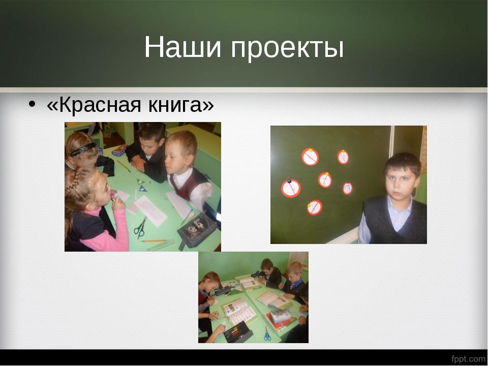 Наши проекты «Красная книга»
