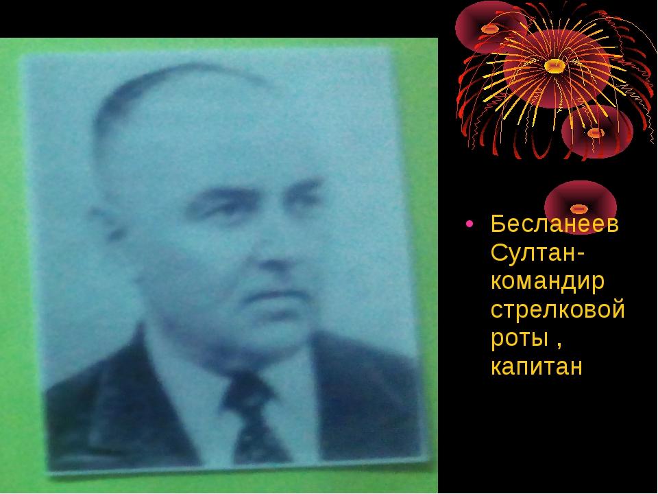 Бесланеев Султан-командир стрелковой роты , капитан