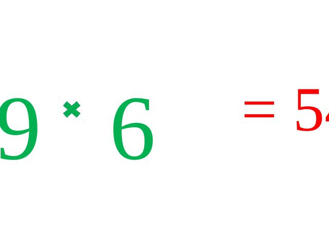 9 6 = 54