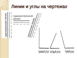 Линии и углы на чертежах