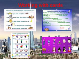 Working with cards