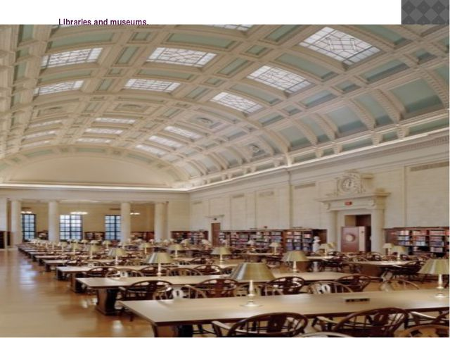 Libraries and museums. The Harvard University Library System is centered in W...