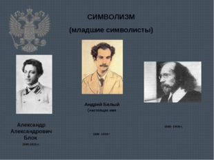СИМВОЛИЗМ (младшие символисты) Александр Александрович Блок 1880-1921гг. Андр