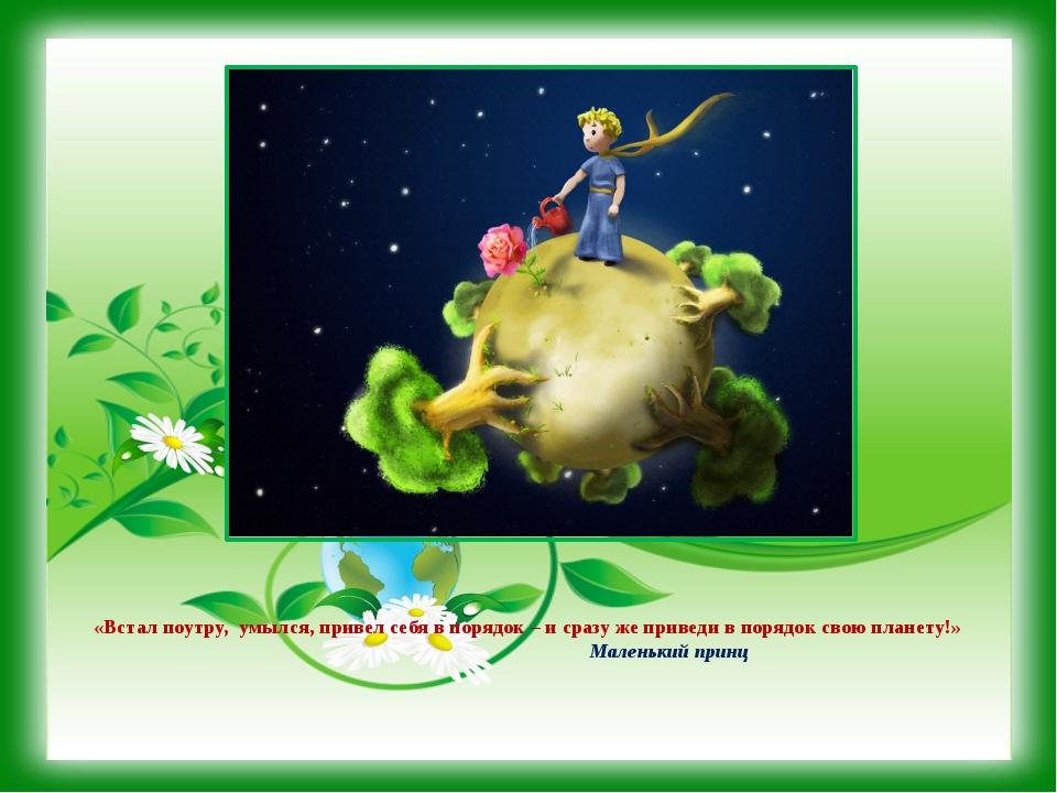 Маленький принц сценарий по экологии для