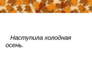 Наступила холодная осень.