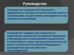 Руководство Руководство гражданской обороной в федеральных органах исполнител