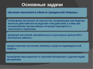 обучение населения в области гражданской обороны; оповещение населения об опа