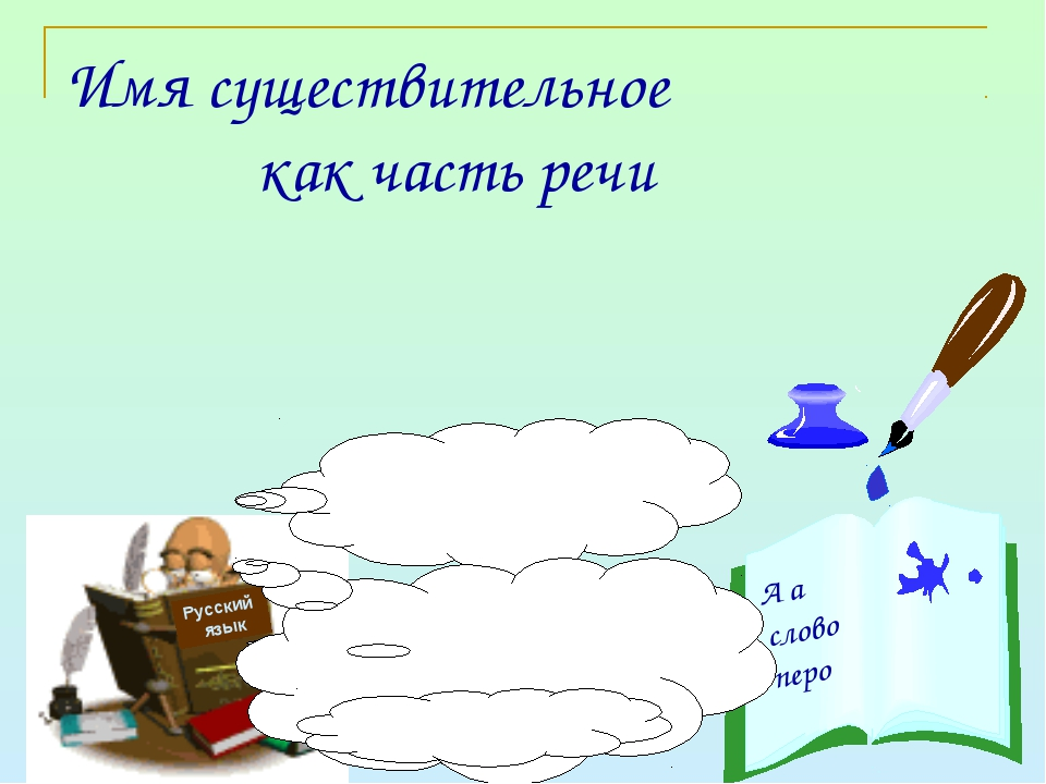Имя существительное как часть речи Русский язык