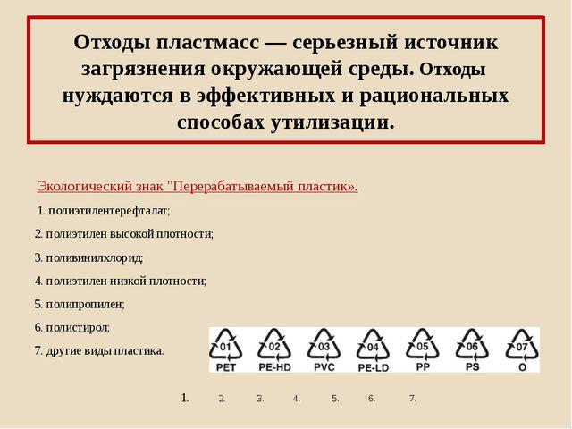Отходы пластмасс — серьезный источник загрязнения окружающей среды. Отходы ну...