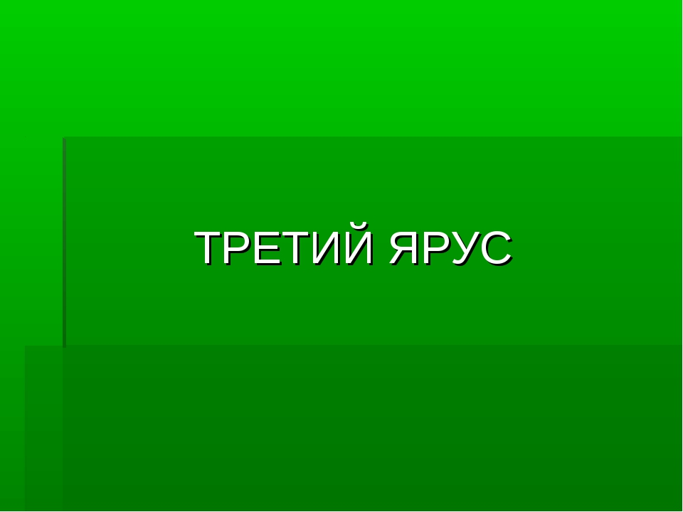 ТРЕТИЙ ЯРУС